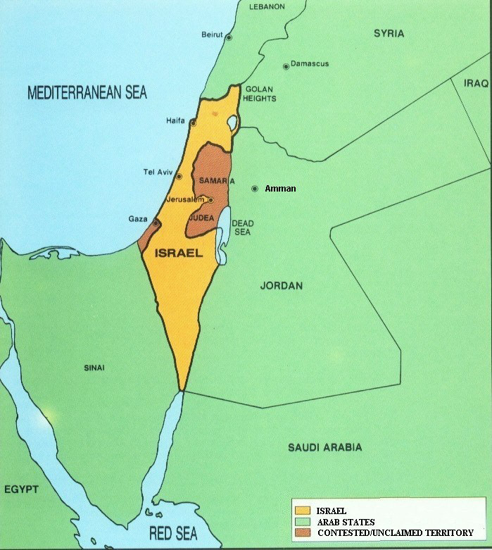 Arieh Eldad Two States For Two Nations On Both Sides Of The - Map of egypt israel jordan